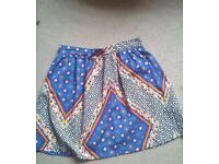Size 8 Aztec silk skirt