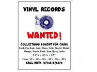 WANTED!!! VINYL RECORDS!! COLLECTIONS BOUGHT FOR CASH!
