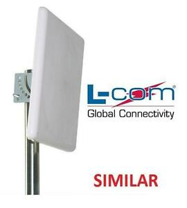 NEW L-COM 2.4GHZ FLAT PANEL ANTENNA LONG RANGE WIFI WLAN NETWORK 2.4 GHz 18 dBi Heavy Duty - N-Female 105891573