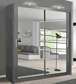 👌🌈 BRAND NEW 2 & 3 DOORS SLIDING WARDROBE WITH FULL MIRRORS ALL SHEL