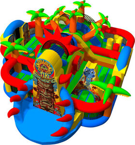 Inflatable Tiki Island Obstacle course