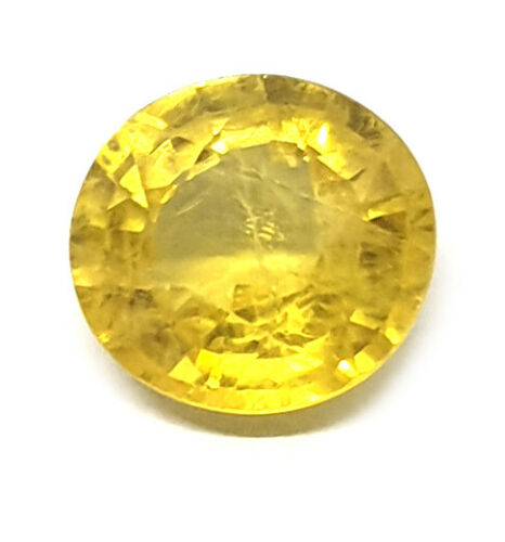 2.60Ct Natural Certified Yellow Sapphire Clean Transparent Premium Quality
