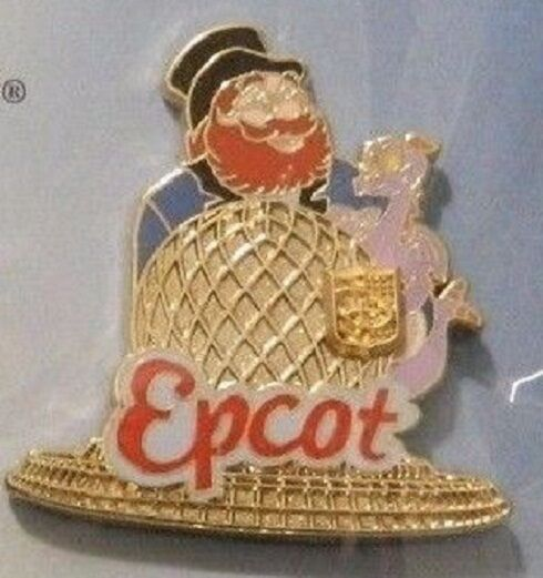 Disney Figment Epcot Figment and Dreamfinder Spaceship Earth Passholder pin