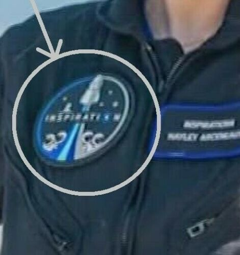 NASA CIVILIAN SPACEX CREW DRAGON on FALCON9 INSPIRATION④ MISSION velkrö PATCH