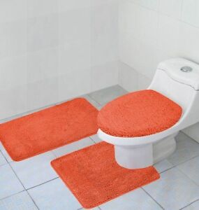 orange bath rug ebay