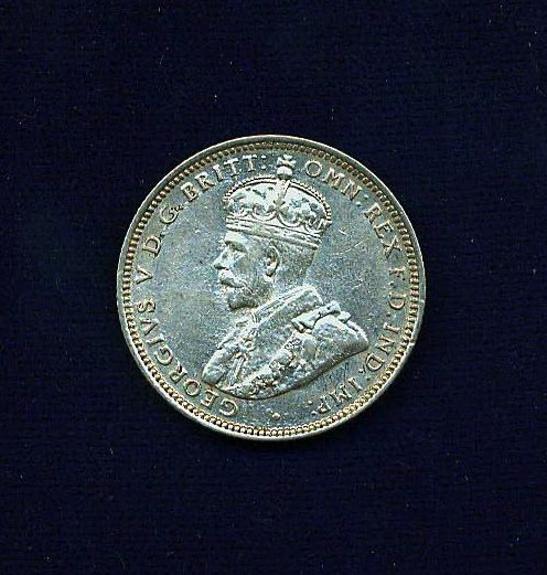 AUSTRALIA GEORGE V  1927  1 SHILLING SILVER COIN, NICE! GRADES:  XF/AU
