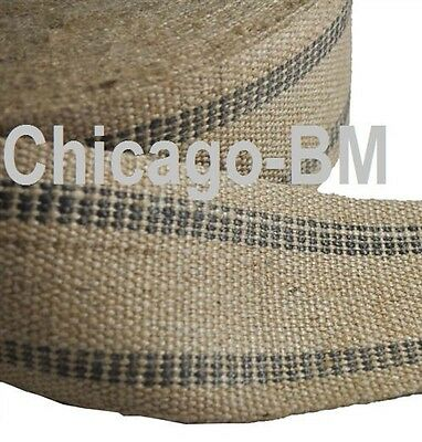 "72 yd Black line  BFM Jute Webbing 3 1/2"" wide on 72 yard roll. UPHOLSTERY"