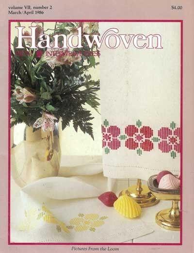 Handwoven magazine mar/apr 1986: doubleweave; rosepath