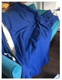 John Lewis - curtains, blue, lined - £50