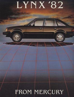 1982 Mercury Lynx Dealer Sales Brochure - Canadian Market