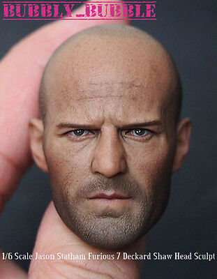 Jason Statham Furious 7 Deckard Shaw 1/6 Scale Head Sculpt SHIP FROM USA