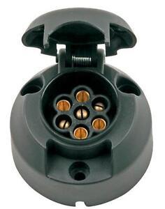 7 pin Trailer Car Caravan Wiring Lights Tow Plastic socket ...