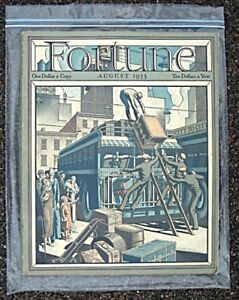 AUGUST 1933 FORTUNE MAGAZINE, EXCELLENT CONDITION
