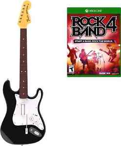 Rock band 4 with guitar and mic