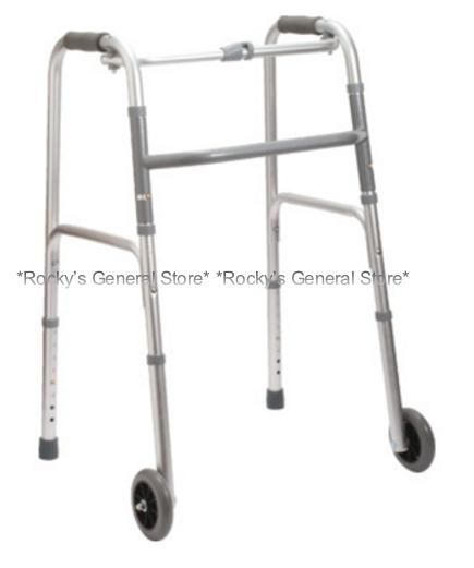 """Folding Walker 5"""" Wheels for users 5'5"""" - 6'4"""" Tall **Free 2"""