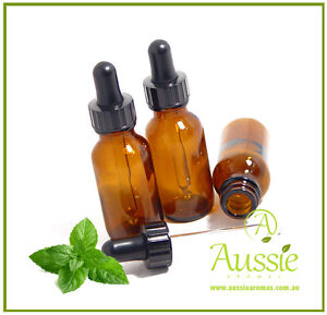 4 x 50ml Tamper-Evident Amber Glass Aromatherapy Bottles with Eye Dropper/Cap