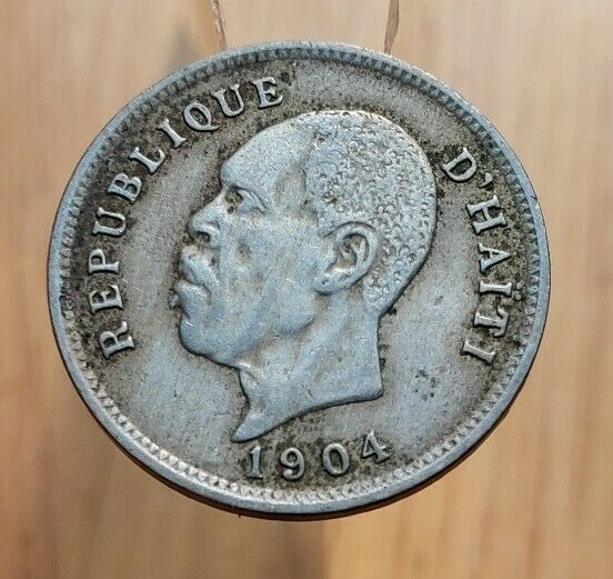 1904 Haiti 5 Centimes World Coin
