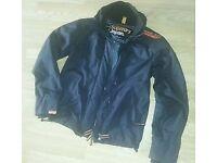 Men's black/orange superdry windcheater jacket