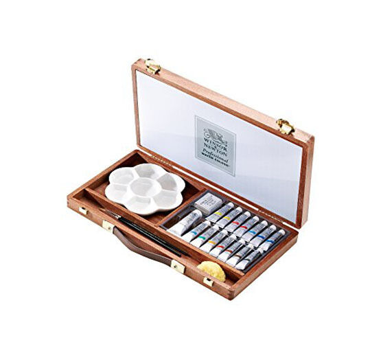 Winsor & Newton Artists Water Colour Chelsea Wooden Box