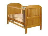 East Coast Nursery Angelina Cot Bed - Antique Pine