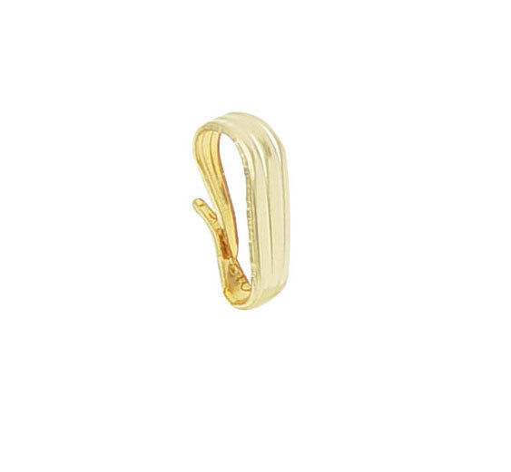9.5mm X 4mm Snap on Bail Attacher Hook 4 Charms Pendant  Real 14K Yellow Gold
