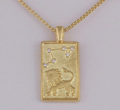 Sternzeichen Kette gold Löwe Swarovski Strass Astrologie Horoskop Esoterik