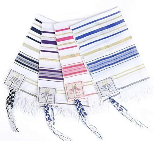"4-Pack Mixed Messianic Jewish Christian Prayer Shawl Tallit Tallis 72"" x 22"""
