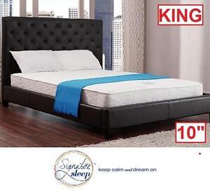 "NEW SIGNATURE SLEEP 10"" MATTRESS - 118872895 - KING WHITE  RENEW GEL MEMORY FOAM/COIL MATTRESSES BED BEDS BEDDING BED..."