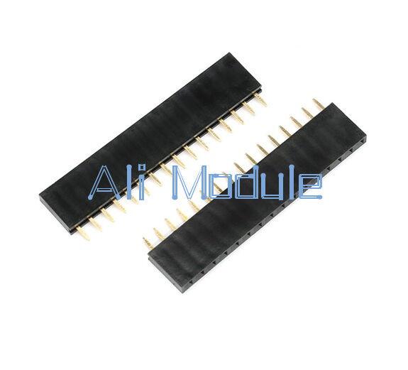 10PCS 16Pin Header 2.54mm Pitch 1X16P Single Row Female Straight Strip