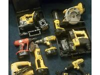 Dewalt xr xrp 18v saw, grinder, jigsaw, drill, torch batteries 2.6, 2.4ah