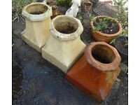 Antique Chimney Pot adapted as Plant Pot.