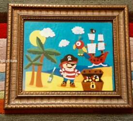 Nautical Pirate themed fizzy felt bespoke picture