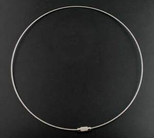 5 STEEL TIGER TAIL~NECKLACE/CHOKER MEMORY BEADING WIRE~SCREW CLASP 18inch (89G)