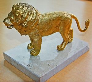 NEW Lion on Marble Figurine/ Sculpture / Paper weight