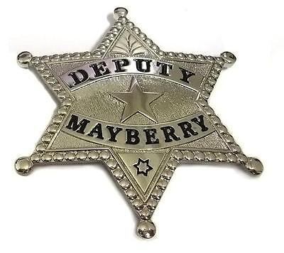 BEST QUALITY DEPUTY PROP Badge MAYBERRY Don Knotts Andy Griffith TV Jim Nabor ()