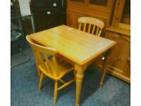 Pine Table and 2 Chairs #31236 £40