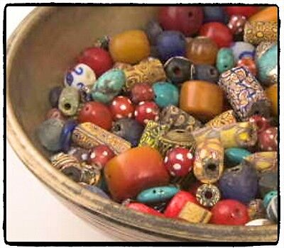 Powdered glass trade beads.