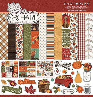 Scrapbooking Crafts PhotoPlay 12X12 Paper Pack Autumn Orchard Fall Truck Leaves (Leaves 12x12 Scrapbook Paper)