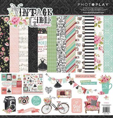 (Scrapbooking Crafts P12X12 Paper Pack Vintage Girl Cameras Music Dresses Roses)