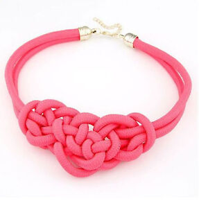 BRAND NEW Neon Pink Knotted Rope Necklace Kitchener / Waterloo Kitchener Area image 5