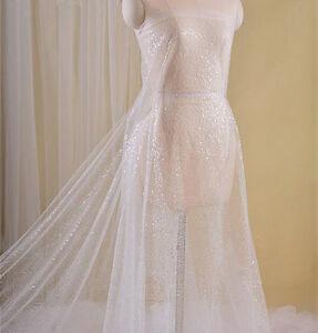 Vintage Ivory Sequin Wedding Lace 55