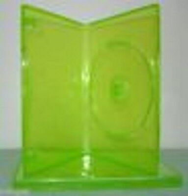 100 NEW TRANSPARENT GREEN XBOX 360 DVD CASE P-D14SDXBGRN for sale  Shipping to India