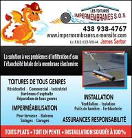 LES TOITURES IMPERMEMBRANES S.O.S Reparations-Etanchite  roofing