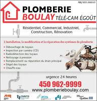 PLOMBIERIE -DÉBOUCHAGE - INSPECTION PAR CAMÉRA