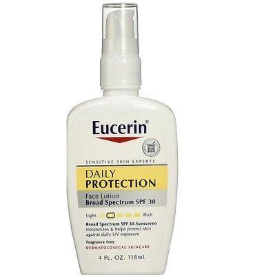 - Eucerin Daily Protection Moisturizing Face Lotion, Broad Spectrum SPF 30, 4FL oz