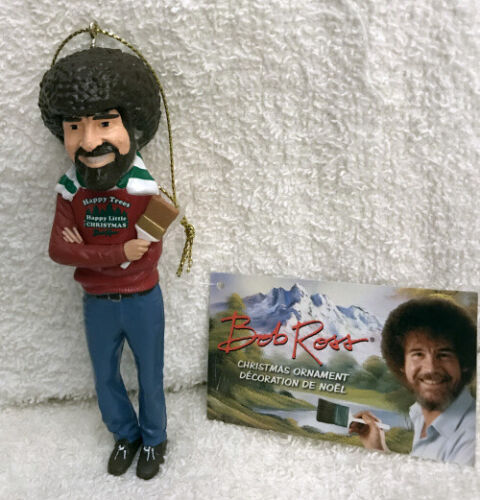 BOB ROSS HAPPY LITTLE TREES CHRISTMAS ORNAMENT NEW W TAGS