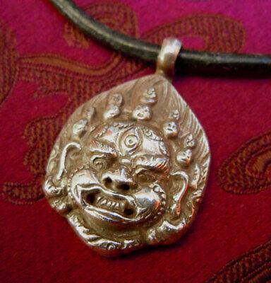 Buddha Amulet Mahakala from Nepal 925er Silver