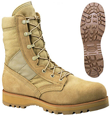 NEW Belleville 220 US Military Army Desert Tan Hot Weather Safety Toe Boots 6 W Desert Safety Toe Boots