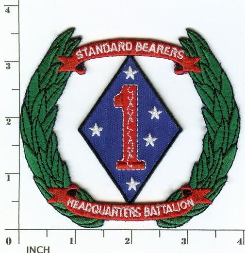 USMC HQ Bn 1st MarDiv PATCH Marines ! Headquarters Battalion ! Standard Bearers!