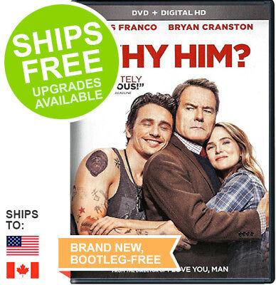 Why Him  Dvd   Digital  2017  New  James Franco  Bryan Cranston  Megan Mullally